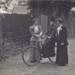 Willard on her bicycle, Gladys