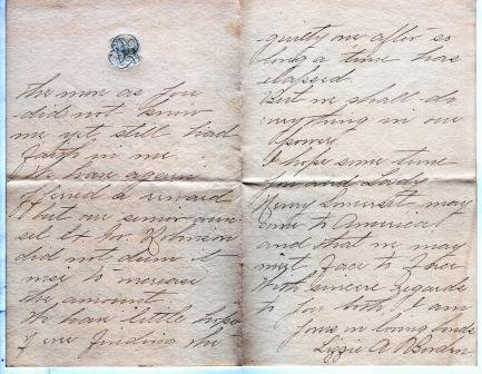 Borden letter page 2 and 3