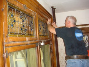 Restoring stained glass in the dining room