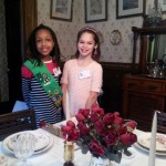 Girl Scout docents, Holiday Open House 2014